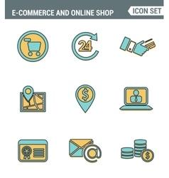 Icons line set premium quality of e-commerce vector