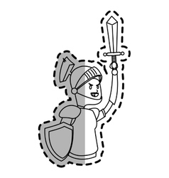 Knight cartoon icon vector