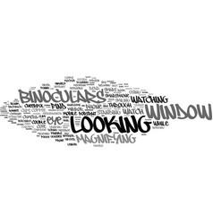 Looking word cloud concept vector