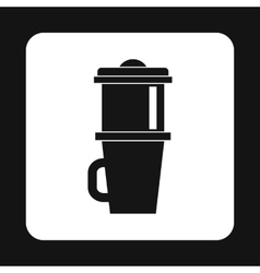 Mug for coffee icon simple style vector image vector image