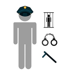 police job vector image vector image