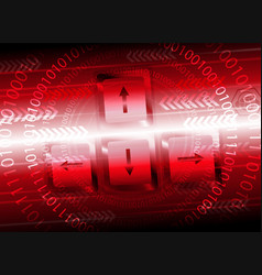 Red computer background with the keyboard vector