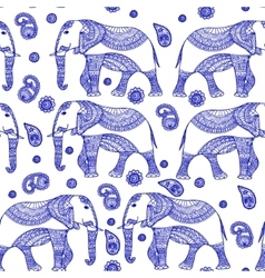 Seamless Pattern with Hand Drawn Vintage vector image