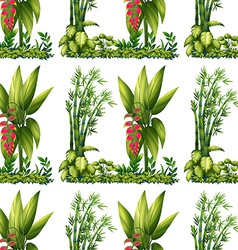 Seamless plants vector image