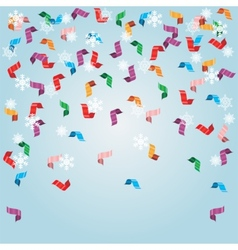 Shiny streamers or party serpentine vector image vector image
