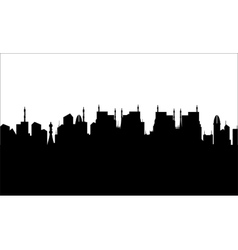 Silhouette of ancient civilization vector image vector image