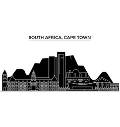 South africa cape town architecture city vector