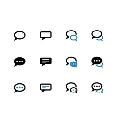Speech bubble duotone icons on white background vector image