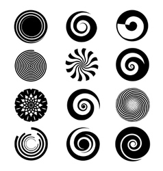 spiral elements vector image
