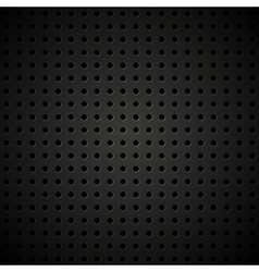 Textured perforated leather background vector