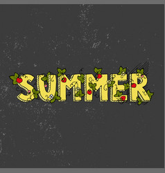 unique lettering poster with word summer vector image vector image