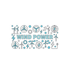 Wind power creative banner vector