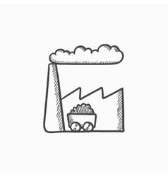 Factory sketch icon vector image