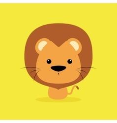 Cute cartoon wild lion vector