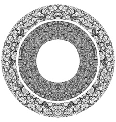 Ornamented circles vector