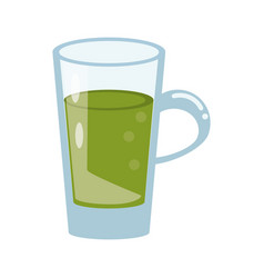 Glass cup juicy refreshment vector