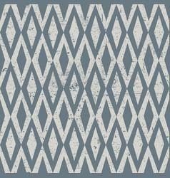 Seamless vintage rhombus pattern grunge textured vector