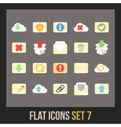 Flat icons set 7 vector
