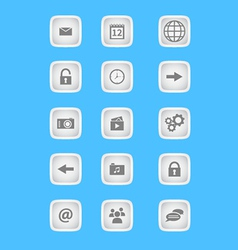 Collection of icons for phone applications and web vector