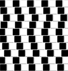 Black and white tiles optical seamless vector