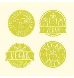 Vegan food badges vector image