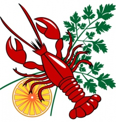 seafood dinner vector