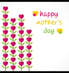 Creative happy mothers day greeting design vector