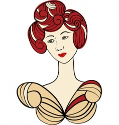 Asian woman vector image