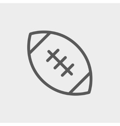 Football ball thin line icon vector