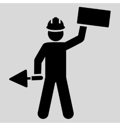 Builder icon from basic plain icon set vector