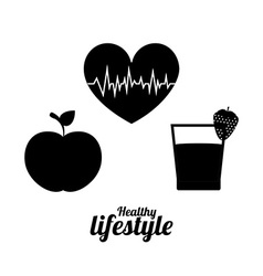Healthy lifestyle design vector