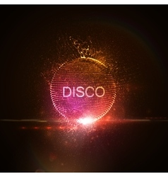 Disco neon sign vector