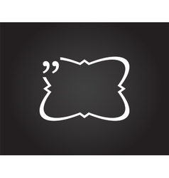 Quotation Mark Speech Bubble Quote sign icon vector image