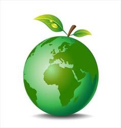 Apple earth vector image