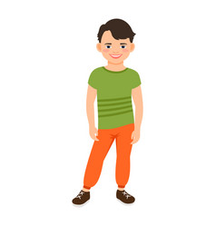 Boy in spring clothes vector