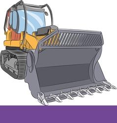 Bulldozer e vector image vector image