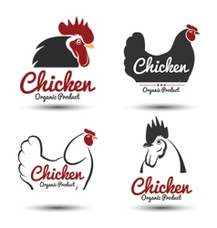 Chicken label 2 vector image vector image