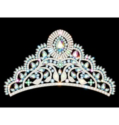 crown diadem tiara women vector image