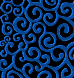 dark blue stylish spiral curls background vector image