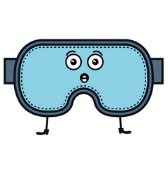 Diving googles kawaii character vector