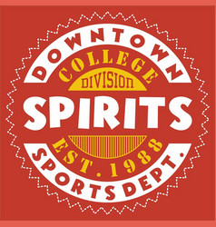 Downtown spirits vector