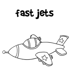 Fast jet art hand draw vector