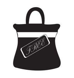 Flat black free bag sign icon vector
