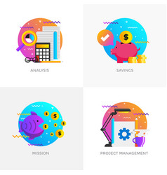 flat designed concepts - analysis savings vector image