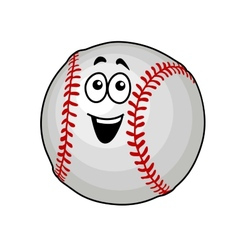 Fun happy baseball ball vector