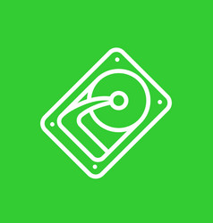 hdd hard drive linear icon vector image vector image