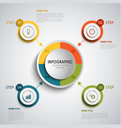 Info graphic with round colored design elements vector
