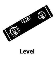 level icon simple black style vector image