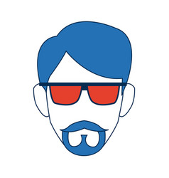 male head person cartoon avatar image vector image vector image