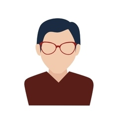 Man guy boy person glasses face head icon vector